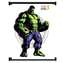 Marvel Vs Capcom 3 Hulk Game Fabric Wall Scroll Poster (16X21) Inches