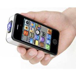Iphone Style Cell Phone Stun Gun - Silver/Black