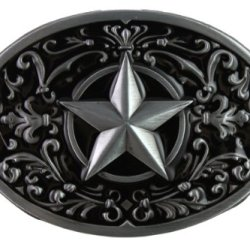 Hogar Zinic Alloy Western Belt Buckle Southwest Pentagram Buckles Color Black