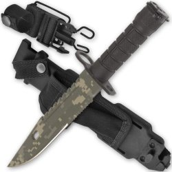 """14"""" M9 Ar-15 / M16 Bayonet Acu Digital Camo Blade Knife With Sheath & Sharpening Stone"""