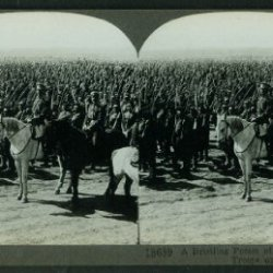 Russian Troops In Review Show Bayonets Stereoview World War I