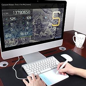 HUION OSU用 携帯式ペンタブ 4*2インチ作業領域携帯式ペンタブレット H420 ホワイト