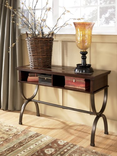 Image of Rustic Brown Medium Brown Zander Sofa Console Table (T415-4)