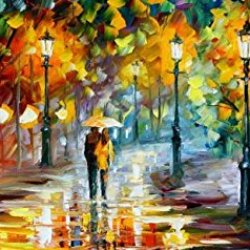 100% Oil Painting Unframed Hugs Me Home Decoration Modern Knife Paintng On Canvas 57X27In/142.5X67.5Cm
