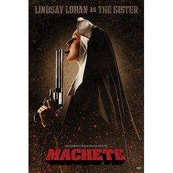 (24X36) Machete Movie Lindsay Lohan As The Sister Poster Print