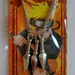 Anime Naruto Shippuden Kunai Throwing Knives Metal Charm Necklace #5