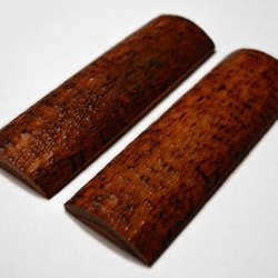 5 Inch Textured Amber Red Bone Scales Handle Set Pair Handles Material For Knife Making Blanks Blades Knives Dyeable Custom