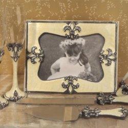Wedding Favors Sophisticated Ivory Fleur De Lis Set