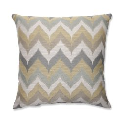 Pillow Perfect Kosala Mist Throw Pillow, 18-Inch, Gold