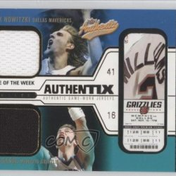 Dirk Nowitzki (Basketball Card) 2003-04 Fleer Authentix Jersey Authentix Game Of The Week Ripped #Dn-Pg