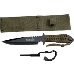Survivor Hk-739Bk Fixed Blade Knife 11-Inch Overall