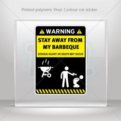 Decal Sticker Funny Stay Away From My Barbeque Bbq Tablet Laptop Waterproof S (40 X 29.8 In)