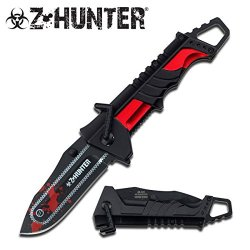 Z Hunter Black Red Zombie Knife Chainsaw Zomber Hunter Survival Tatical Camping Hunting Pocket Knife