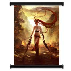 """Heavenly Sword Game Fabric Wall Scroll Poster (16"""" X 22"""") Inches"""