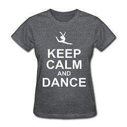 Hd-Print Women'S Tshirts Keep Calm Dance M Deepheather