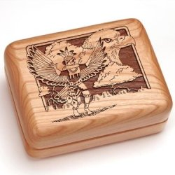 "3X4"" Box With Money Clip/Pocket Knife - Kachina & Eagle"