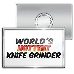 Fridge Magnet Worlds Hottest Knife Grinder - Neonblond