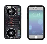 565 - Dj Mixer Controller Cool MUSIC DJ Clubing Design iphone 6 6S 4.7'' Full Body CASE With Build in Screen Protector Rubber Defender Shockproof Heavy Duty Builders Protective Cover