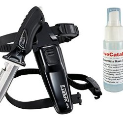 Tusa Scuba Dive X-Pert Ii Knife Blunt Fk-920 - Black W/ Free Mask Defog 2Oz Spray Bottle