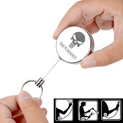 Verany Resilience Retractable Rope Retractable Key Ring Key Chain Anti-Lost Alarm Anti-Lost Keychain