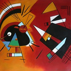 """Wassily Kandinsky -Black-And-Violet-1923 _ Oil Painting On Canvas Repro 20X24"""""""