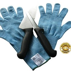 1St Class Cut Resistant Kitchen Or Work Gloves - Premium Cutting Gloves For Slicing Meat - Long Extended Cuff Protection - Top Level Steel Cut Resistance For Metalwork - Mechanical Hazards Rating En388 - High Dexterity Lightweight - Handle Kitchen Mandoli