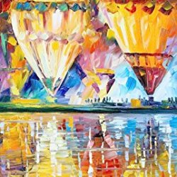 100% Oil Painting Unframed Colorful Balloon Home Decoration Modern Knife Paintng On Canvas 20X40In/50X100Cm
