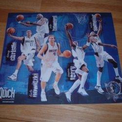 "Dallas Mavericks-Full Color, 10 3/4"" X 12 1/4"" Poster Featuring Starting Five Of:Dirk Nowitzki, Doug Christie, Josh Howard, Jason Terry & Erick Dampier"