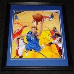 Dirk Nowitzki Framed 8X10 Poster Photo Mavericks Nba Finals