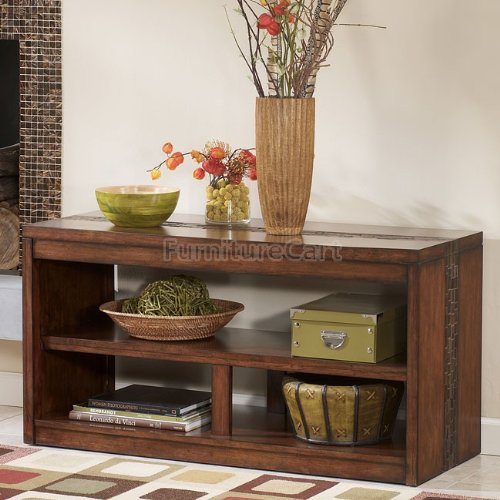 Image of Rustic Medium Brown Console Table (T675-4)