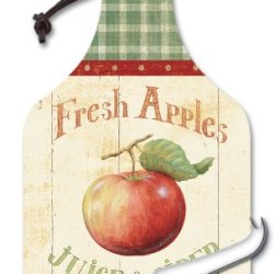 Counterart Appletree Big Cheese 14-1/4 Inch Glass Board With Cheese Knife