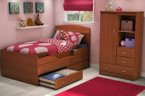 Image of Twin Size Kids Bedroom Furniture Set 71 in Morgan Cherry - Imagine - South Shore Furniture - 3576-BSET-71 (3576-BSET-71)