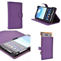 Vintage Maniacal Purple Protective Case Fits Doogee Dagger Dg550 |Universal Fit With Stand Function + Nd Cable Wrap
