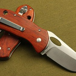 Red Rosewood Bee-El05 Hand Sanding Pocket Folding Knife, Limited Edition, Best Choice For Survival, Camping, Craft, Gardening Or Outdoor Gear