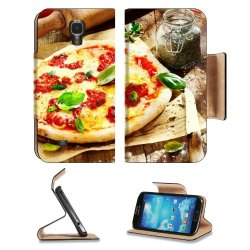 Pizza Dish Food Spices Tomatoes Cheese Dough Knife Fork Samsung Galaxy S4 Flip Cover Case With Card Holder Customized Made To Order Support Ready Premium Deluxe Pu Leather 5 Inch (140Mm) X 3 1/4 Inch (80Mm) X 9/16 Inch (14Mm) Liil S Iv S 4 Professional Ca