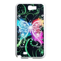 Generic Mobile Phone Cases Cover For Samsung Galaxy Note 2 Case N7100 Fashionable Art Designed With Beautiful Butterfly Personalized Shell Cell Phone Protect Skin