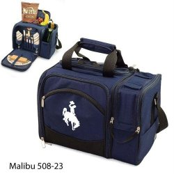 Wyoming Cowboys Malibu Insulated Picnic Shoulder Pack/Bag - Navy W/Embroidery