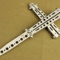 Practice Butterfly Knife - No Sharp Edge - Multi-Tool Style