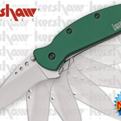 "Ks1620Grn Kershaw Scallion. A4Oum3Nx Assisted Opening Green Folder Folding Knife Edge Sharp Steel Ytkbio Tikos567 Bgf ""Kershaw Scallion. Green Handles, Standard Edge Blade. 3 1/2"""" Closed Linerlock. 420Hc Stainless Blade Ro2Rnav1Wb With Thumb Stud. Featur"