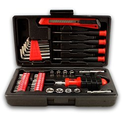 44 Piece Tool Set With Compact Case - Screwdriver And Socket Sets - Hardware And Tools By Bogo Brands