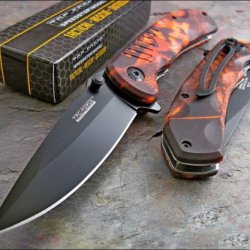 Tac-Force Red Camo Assisted Opening Speedster Knife Brand New!!!