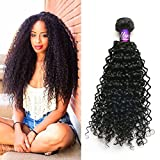 """Mornice Hair 3 Bundles 300G 8A 100% Unprocessed Brazilian Remy Kinky Curly Virgin Hair Weave Human Hair Extensions Natural Color (16""""18""""20"""")"""