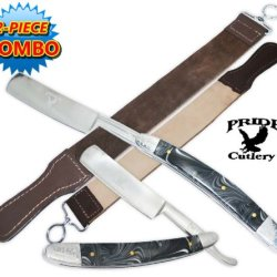 P-20700-Ls1 Pride Cutlery Straight Razor & Leather Wpavvy7Kwm Strop 1Dcj6I (2-Piece Set) Folding Knife Edge Sharp Steel Ytkbio Tikos567 Bgf This Is The Perfect Combination: A 9 Inch Pride Cutlery Straight Razor With A Genuine Leather Strop. Get Your Hands