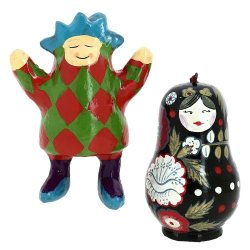 Snowman And Fairy Decor Paper Mache Valentine Ornaments