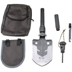 Agptek Multi-Function Survival Tool With Foldable Shovel/Axe/Knife Saw/Campass