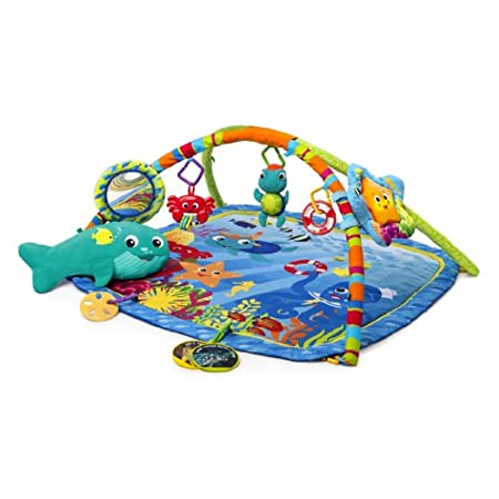 Take baby on an undersea adventure. The Baby Einstein nautical friends play gym will entertain your little one with ocean-themed fun including a whale-shaped prop pillow for tummy time, crab bead chaser, plush baby Neptune rattle, sand dollar teether...