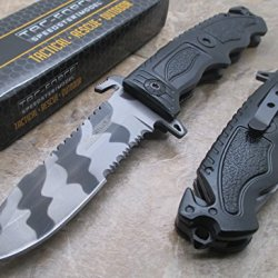 Tac Force Urban Camo Half Serrated Stainless Steel Blade Knife