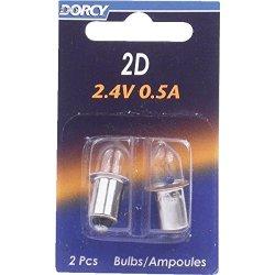 Dorcy Flashlight Bulb Bayonet Base Card 2.4 V