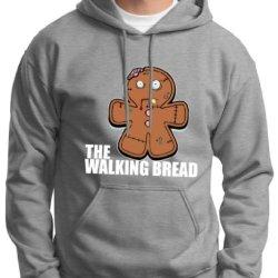 Gingerbread Zombie Premium Hoodie Sweatshirt Large Light Steel