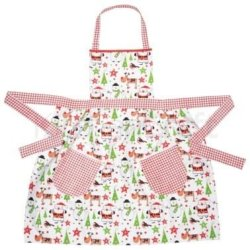 Kitchen Craft Santa & Friends Fitted Ladies Apron - Cotton 83 X 84Cm